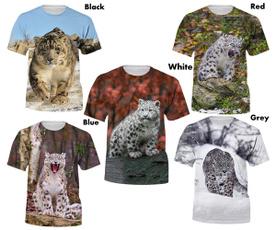 Mens T Shirt, Funny T Shirt, Summer, snowleopardtshirt