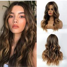 wig, brown, Fiber, Beauty