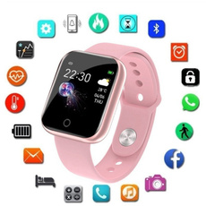 led, Ejercicio, Silicone, wristwatch