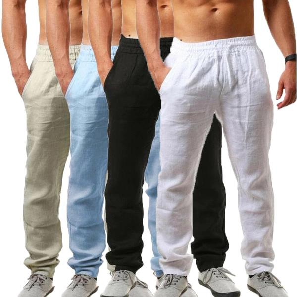 elastic waist, Waist, Casual pants, pants