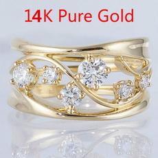 Fashion, zirconring, gold, Bride