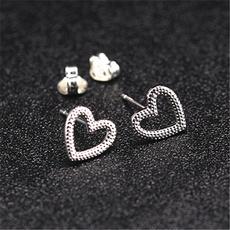 Heart, Men Earrings, Jewelry, peach