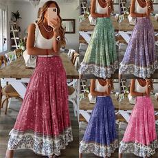 Summer, long skirt, Plus Size, Women's Fashion