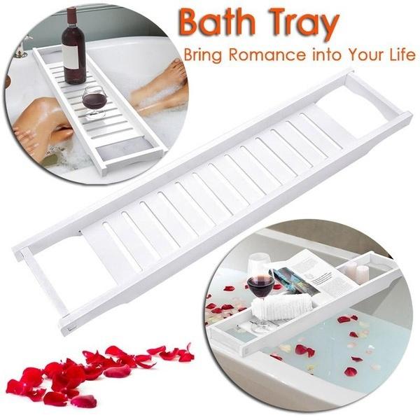 tray, bathtray, bathtubshelf, wine glass