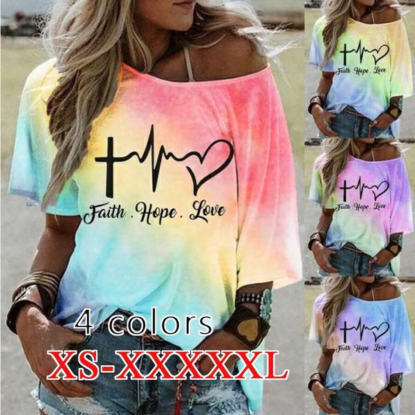 gradientcolor, Summer, Plus Size, colorfultop
