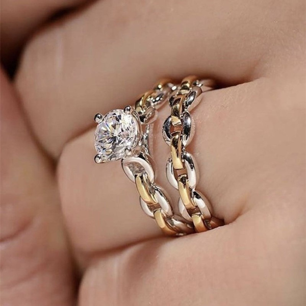 Sterling, exquisite jewelry, wedding ring, Chain