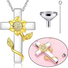 Sterling, Heart, Jewelry, Sunflowers