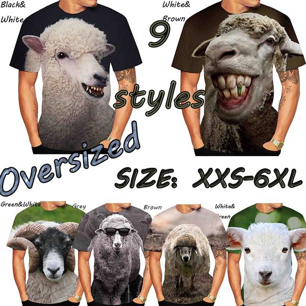Sheep, Summer, Plus Size, Man Shirts
