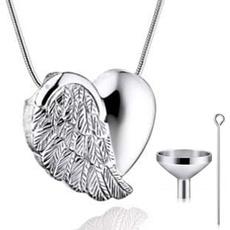 wingnecklace, Jewelry, Angel, Heart