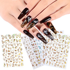 butterfly, golden, nail decals, Fashion
