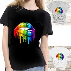 Summer, Fashion, Cotton Shirt, rainbow