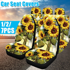 Polyester, carseatcover, carfullset, Sunflowers