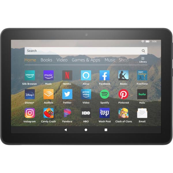 amazonfiretablet, amazonfirehd8, black, Tablets