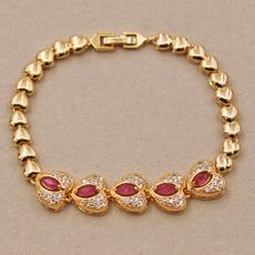 Heart, Fashion, gold, Bracelet