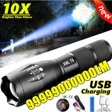 Flashlight, Batteries, led, camping