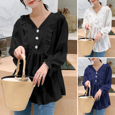 Plus Size, baggyshirt, tunic top, Long Sleeve