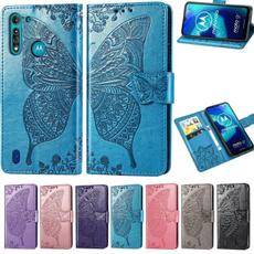 butterfly, case, Motorola, leather