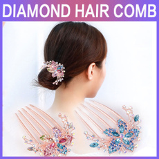 Fashion, headdress, Jewelry, diamondinsertcombhair