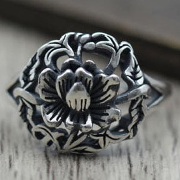 Flowers, Jewelry, Silver Ring, Diamond Ring