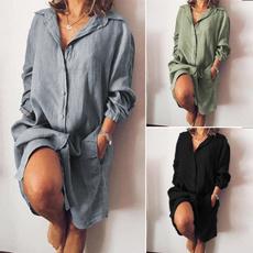 Mini, dressforwomen, springdres, Cotton