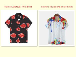 Fashion, Men, Print, narutotshirt