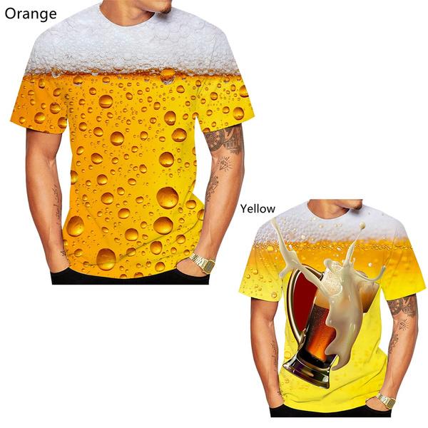 crewnecktshirt, Fashion, Summer, printedshortsleeve