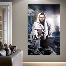 jesusgod, art, living room, canvaspainting