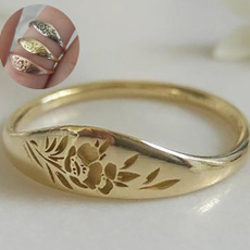 Silver Jewelry, Flowers, 925 sterling silver, wedding ring