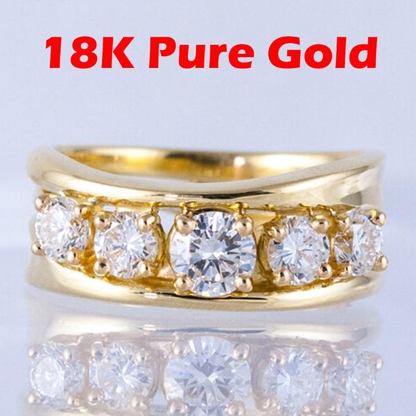 DIAMOND, wedding ring, gold, rhinestonering