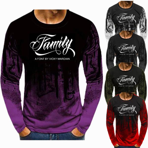 Mens T Shirt, Fashion, Slim T-shirt, Fitness