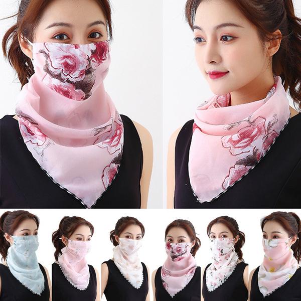 silkmask, chiffon scarf, Necks, chiffon