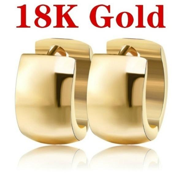 yellow gold, White Gold, bigroundearring, Dangle Earring