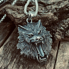 Head, vikingnecklace, Stainless Steel, Goth