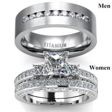 Sterling, Steel, DIAMOND, engagementweddingring