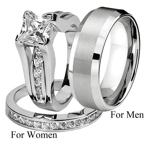 engagementringset, Steel, Fashion, Stainless Steel