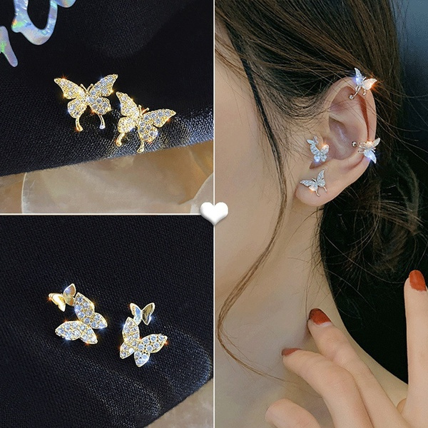 earringsforwoman, butterfly, Fashion, netredearring