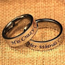 Couple Rings, Steel, herweirdo, Engagement