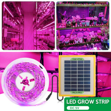 Flowers, led, Garden, lights