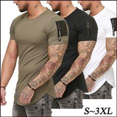 summer t-shirts, Cotton, tshirt men, Sleeve