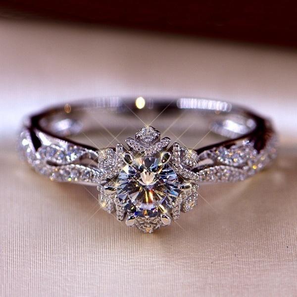 Sterling, Women, DIAMOND, wedding ring