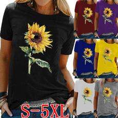 Summer, womens top, Graphic T-Shirt, Sleeve