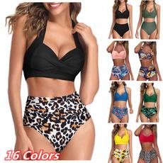 Summer, Fashion, bikini set, Halter