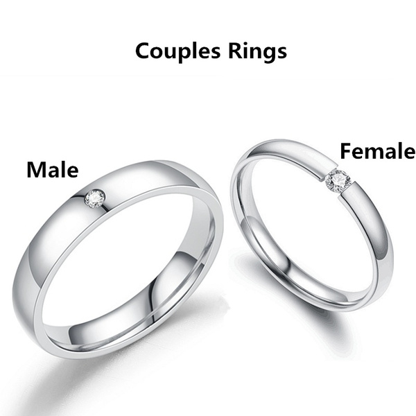 Steel, Couple Rings, wedding ring, Gifts