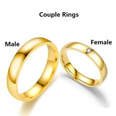 Steel, Couple Rings, Plus Size, wedding ring