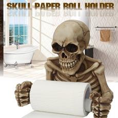 toilet, Decor, Figurine, Skeleton