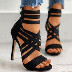elasticbandheel, Sandals, Elastic, Womens Shoes