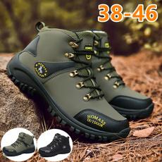 non-slip, ankle boots, Plus Size, woodland