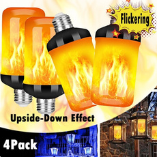 Light Bulb, firelight, atmosphere, Outdoor