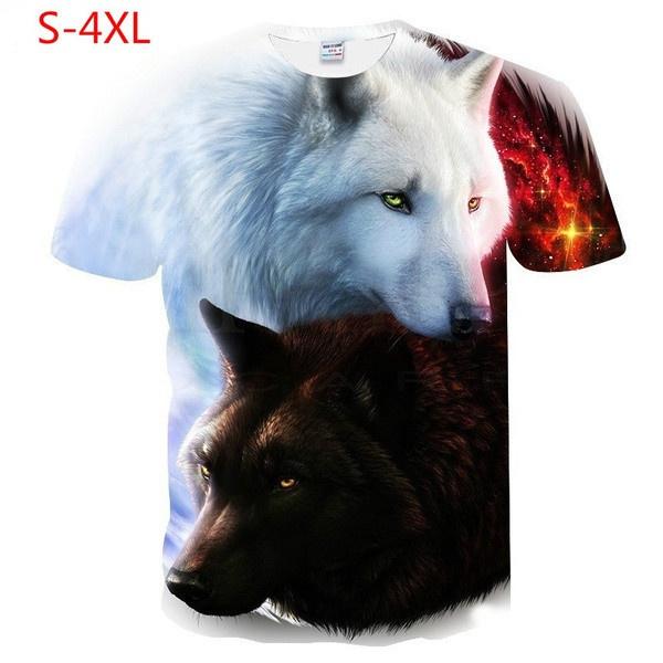3dprintwolftshirt, 3dtee, Sleeve, women top