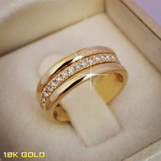 Sterling, DIAMOND, gold, 18k gold ring